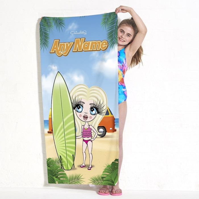 ClaireaBella Girls Surfer Chick Beach Towel - Image 4