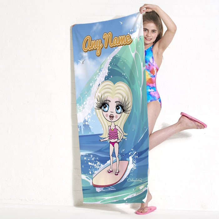 ClaireaBella Girls Surfs Up Beach Towel - Image 3