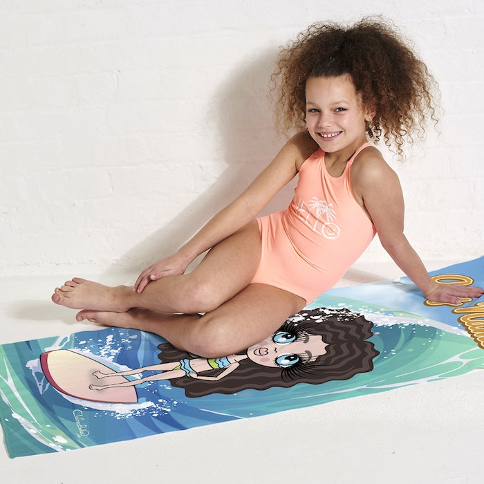 ClaireaBella Girls Surfs Up Beach Towel - Image 5