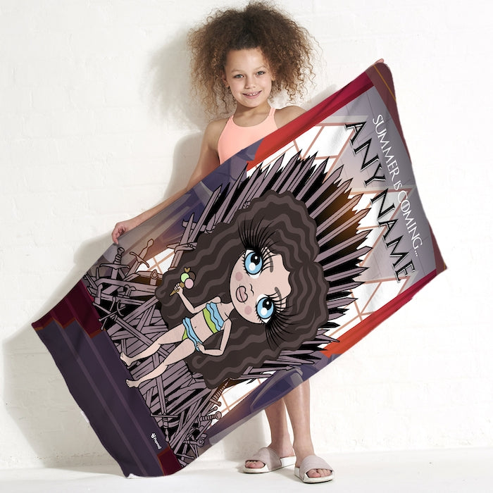 ClaireaBella Girls Throne Beach Towel - Image 1