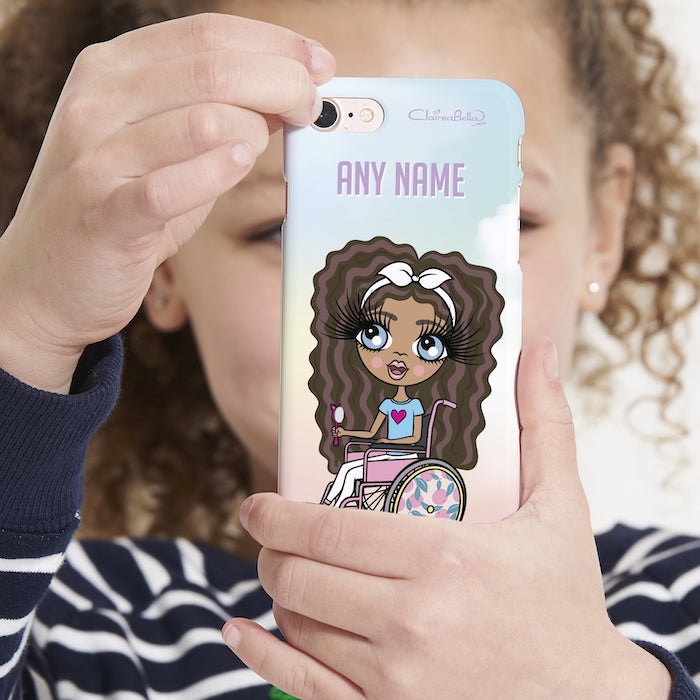 ClaireaBella Girls Wheelchair Personalized Unicorn Colors Phone Case - Image 2