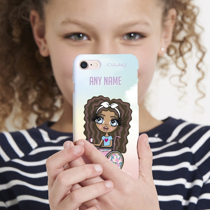 ClaireaBella Girls Wheelchair Personalized Unicorn Colors Phone Case - Image 3