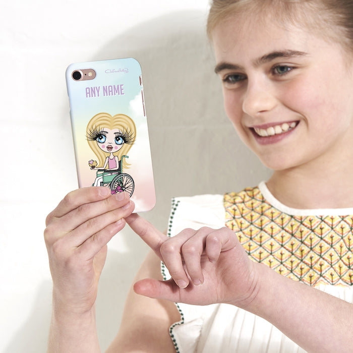 ClaireaBella Girls Wheelchair Personalized Unicorn Colors Phone Case - Image 4