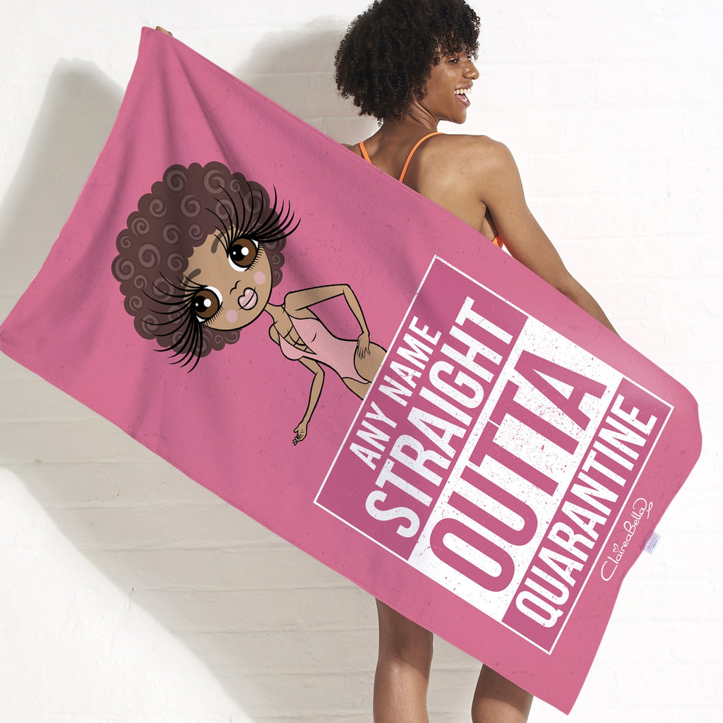 ClaireaBella Straight Outta Quarantine Beach Towel - Image 1