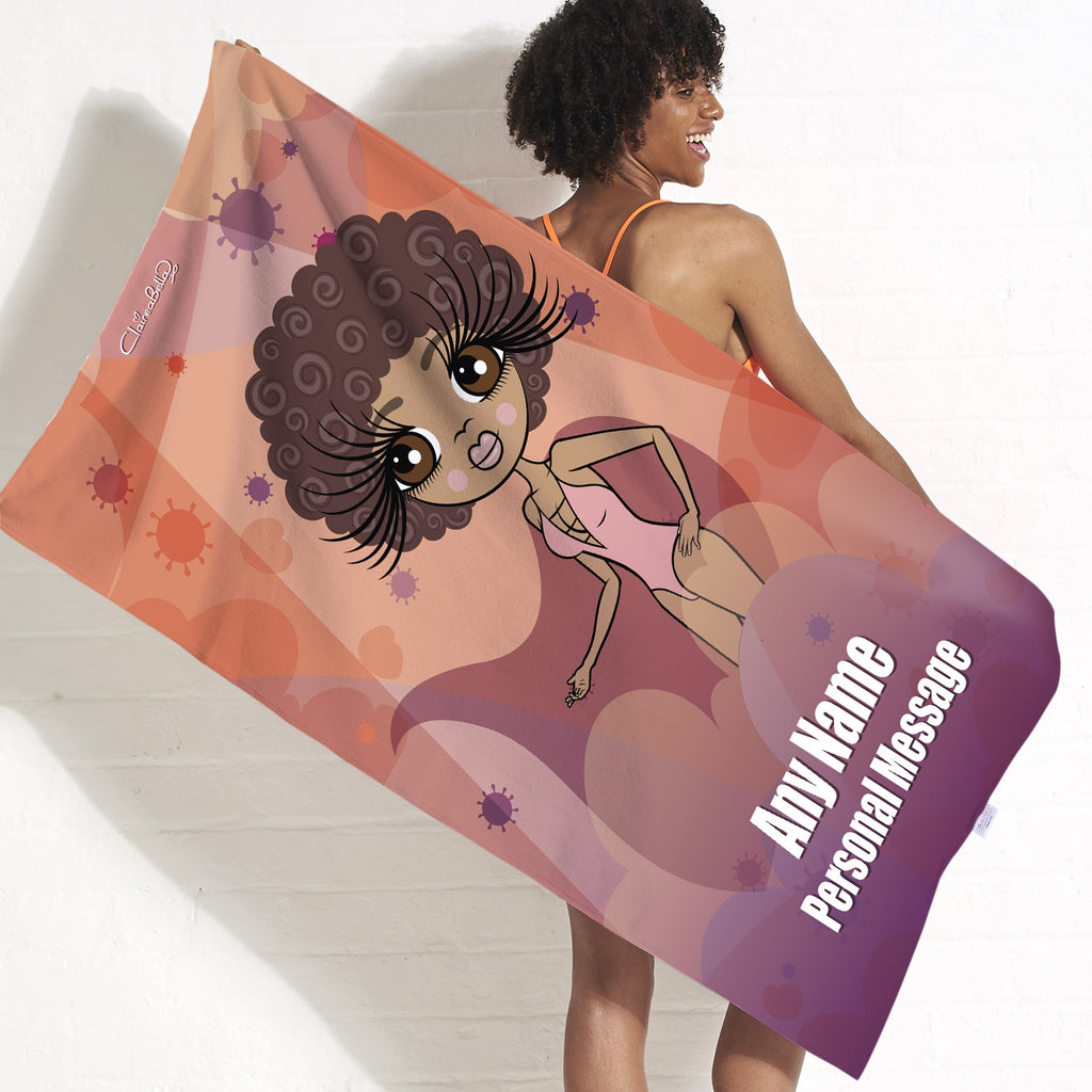 ClaireaBella Virus In The Air Beach Towel - Image 1