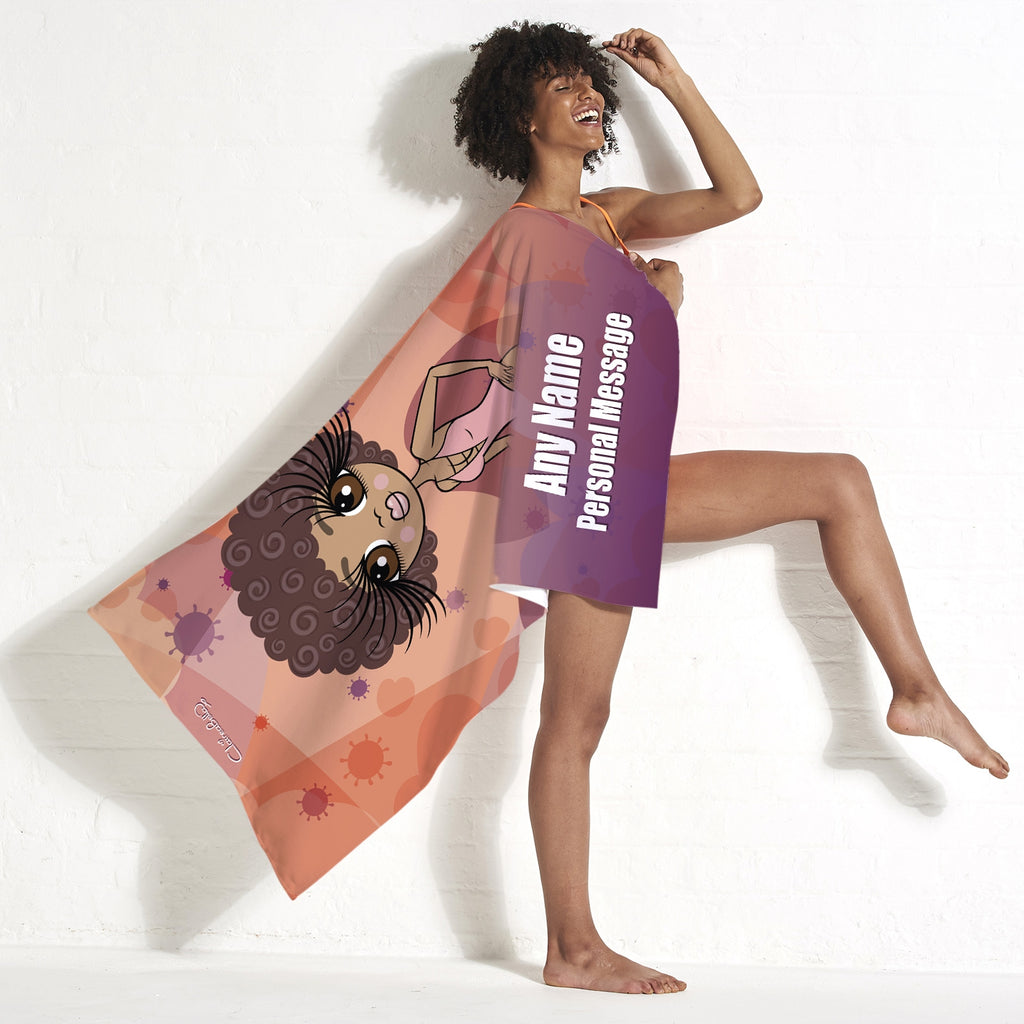ClaireaBella Virus In The Air Beach Towel - Image 4
