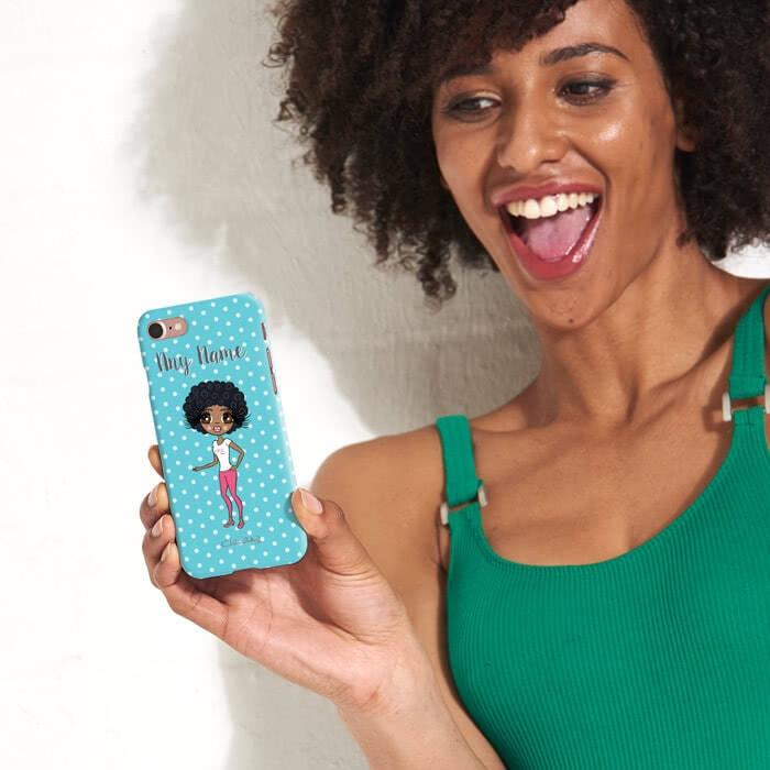 ClaireaBella Personalized Polka Dot Phone Case - Image 2