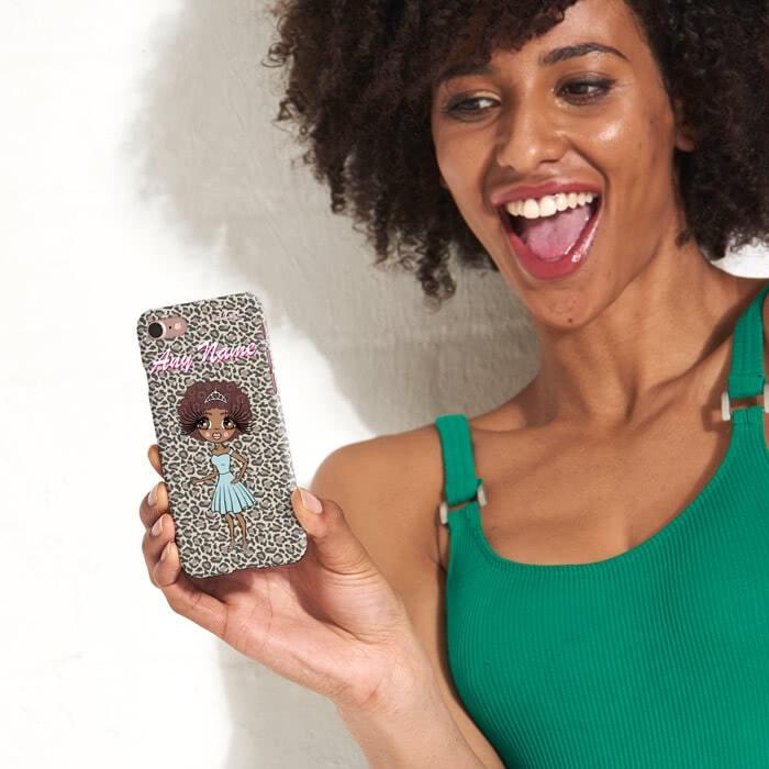 ClaireaBella Personalized Leopard Print Phone Case - Image 3