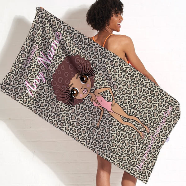 ClaireaBella Leopard Print Beach Towel - Image 1