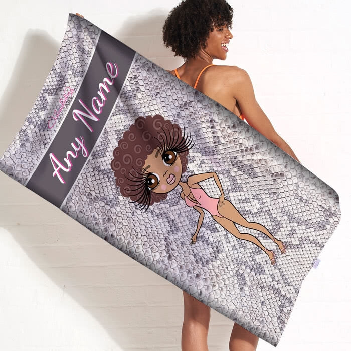 ClaireaBella Snake Print Beach Towel - Image 1