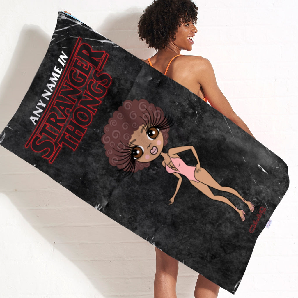 ClaireaBella Stranger Thongs Beach Towel - Image 4