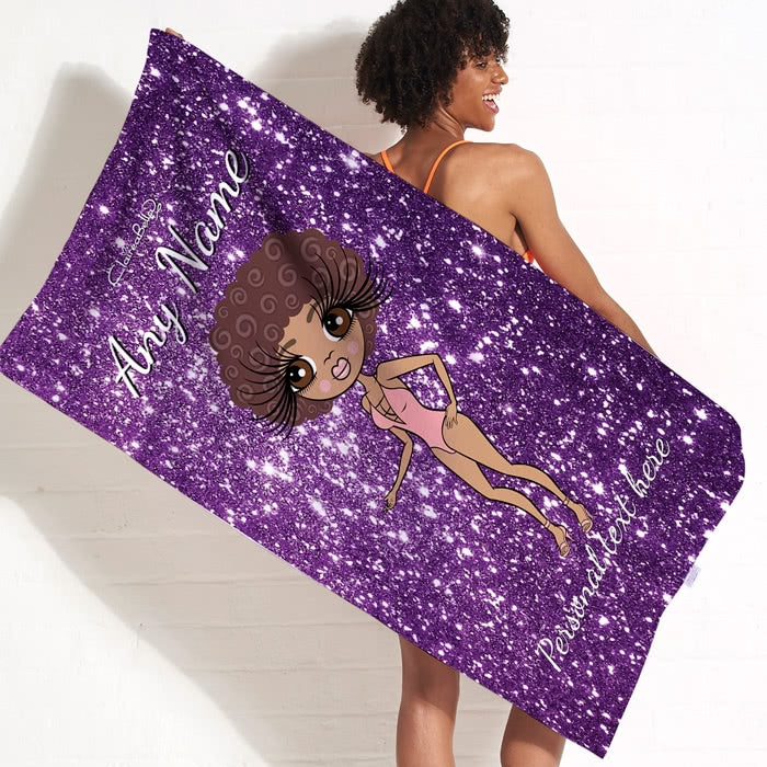 ClaireaBella Glitter Effect Beach Towel - Image 3