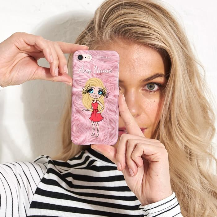 ClaireaBella Personalized Fur Effect Phone Case - Image 2