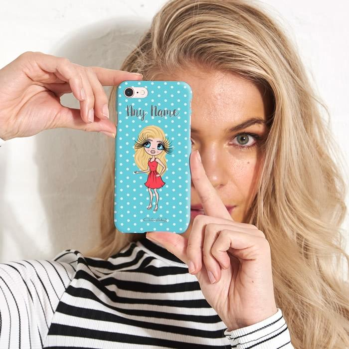 ClaireaBella Personalized Polka Dot Phone Case - Image 3