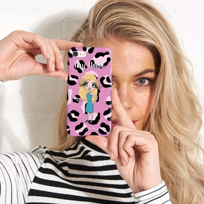 ClaireaBella Personalized Lilac Leopard Phone Case - Image 3