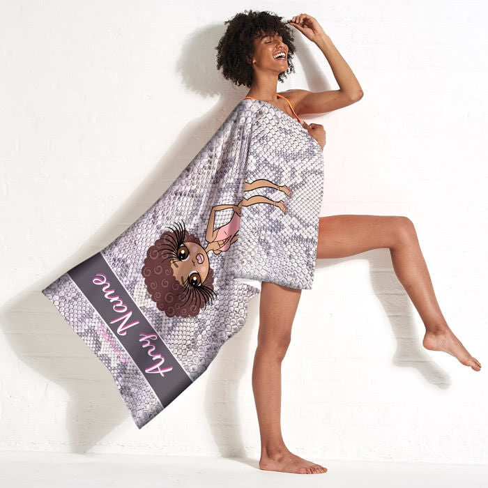 ClaireaBella Snake Print Beach Towel - Image 11