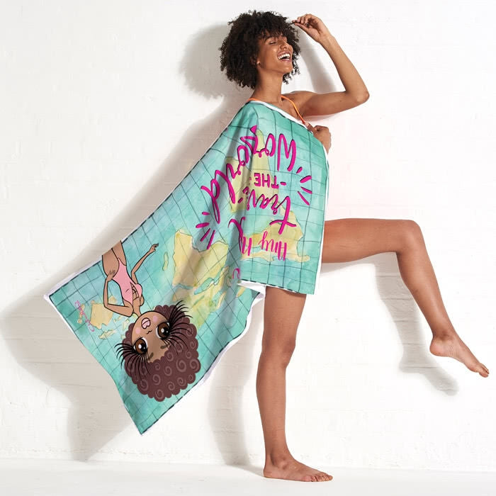ClaireaBella World Print Beach Towel - Image 11