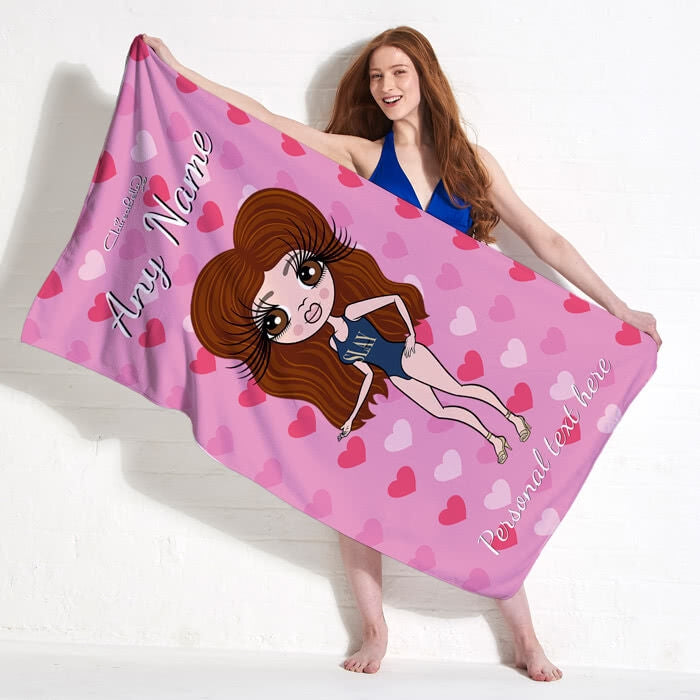ClaireaBella Hearts Beach Towel - Image 11