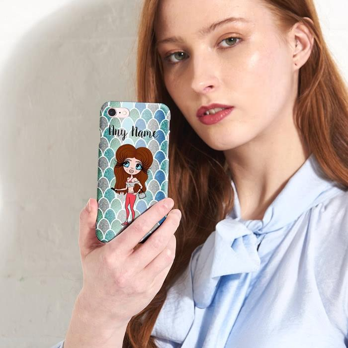 ClaireaBella Personalized Mermaid Glitter Effect Phone Case - Image 6
