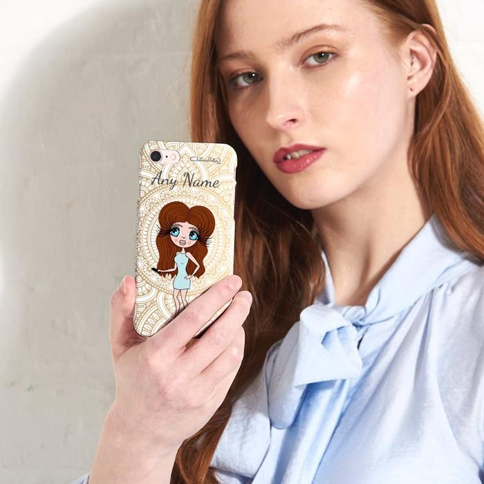 ClaireaBella Personalized Golden Lace Phone Case - Image 1