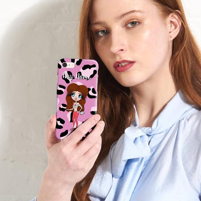 ClaireaBella Personalized Lilac Leopard Phone Case - Image 2