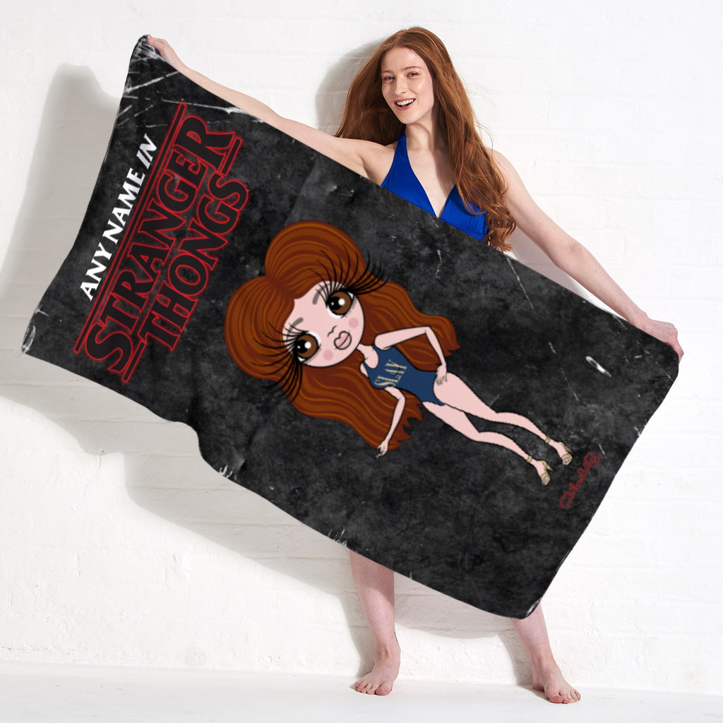 ClaireaBella Stranger Thongs Beach Towel - Image 2