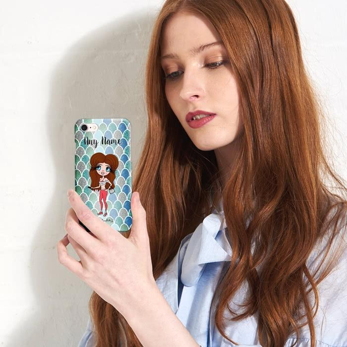 ClaireaBella Personalized Mermaid Glitter Effect Phone Case - Image 3