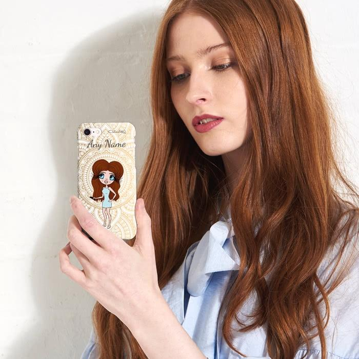 ClaireaBella Personalized Golden Lace Phone Case - Image 4