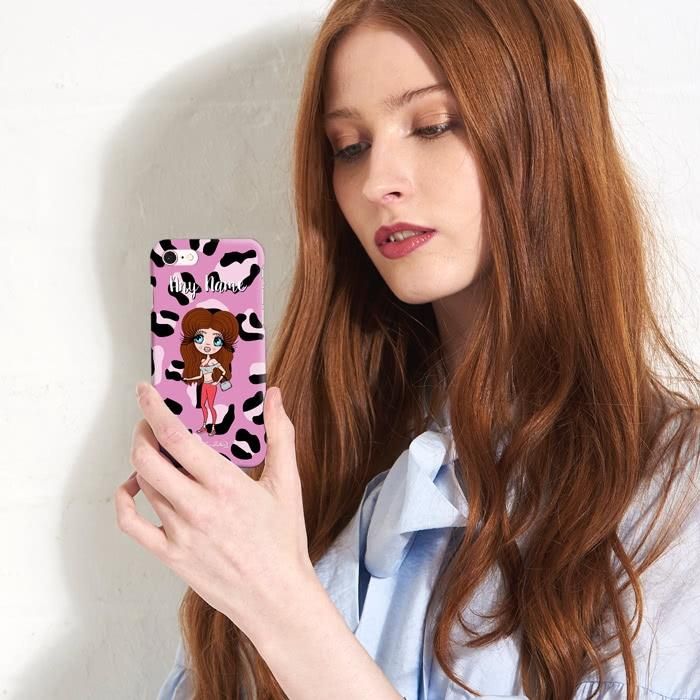 ClaireaBella Personalized Lilac Leopard Phone Case - Image 5