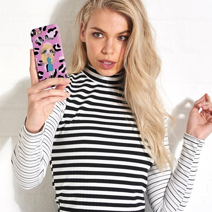 ClaireaBella Personalized Lilac Leopard Phone Case - Image 6