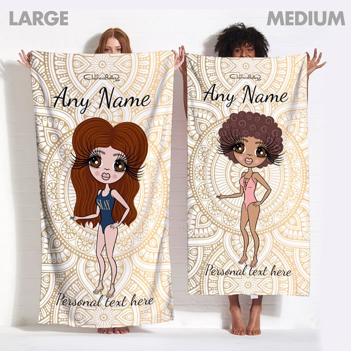 ClaireaBella Golden Lace Beach Towel - Image 11