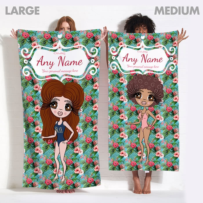 ClaireaBella Hula Print Beach Towel - Image 13