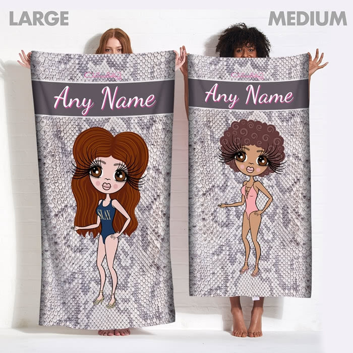 ClaireaBella Snake Print Beach Towel - Image 9