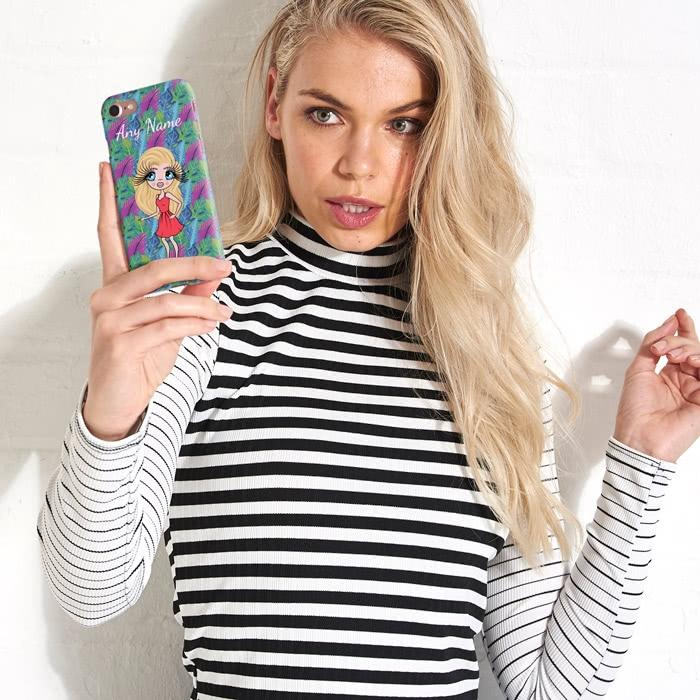 ClaireaBella Personalized Neon Leaf Phone Case - Image 6
