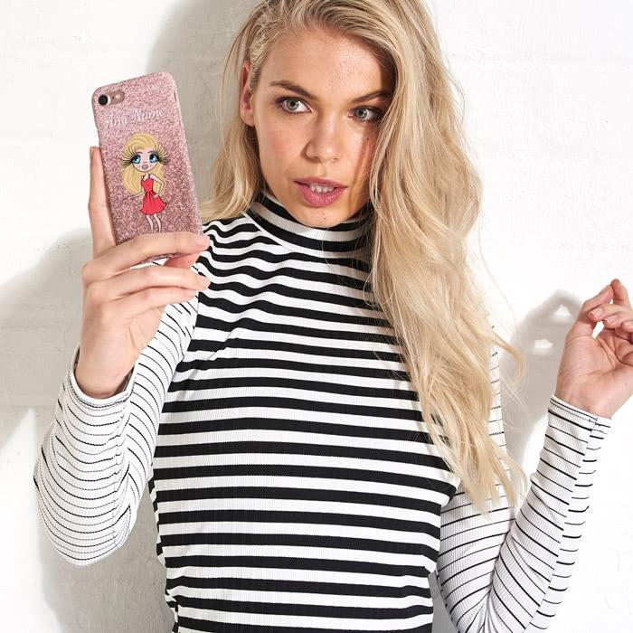ClaireaBella Personalized Glitter Effect Phone Case - Image 8