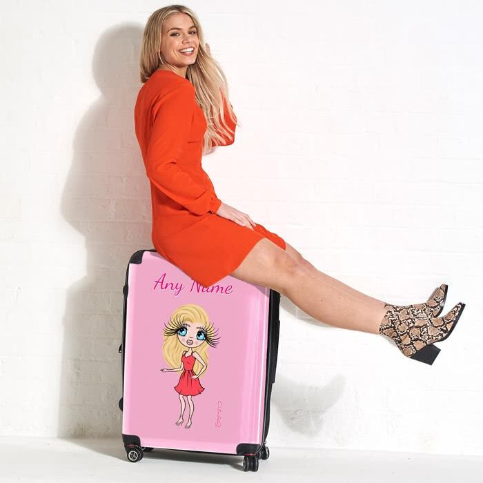 ClaireaBella Pastel Pink Suitcase - Image 4