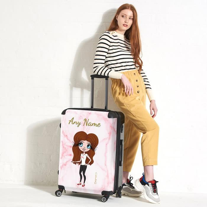 ClaireaBella Marble Effect Suitcase - Image 1