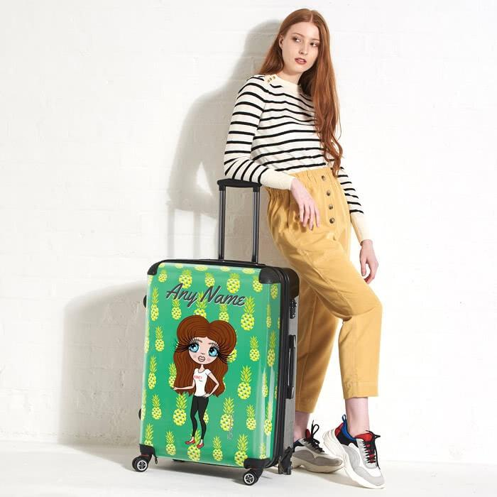 ClaireaBella Pineapple Print Suitcase - Image 1