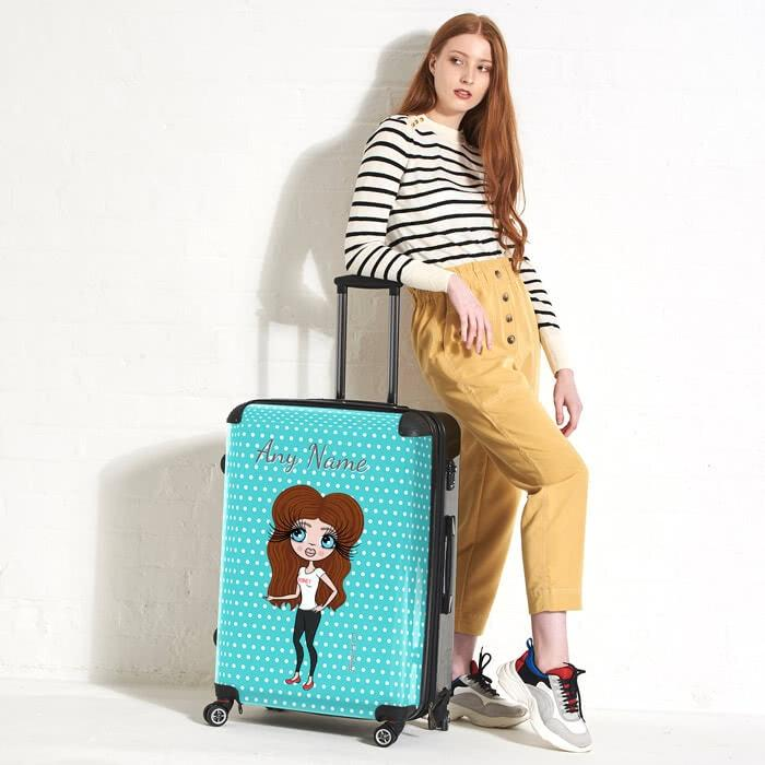 ClaireaBella Polka Dot Suitcase - Image 1