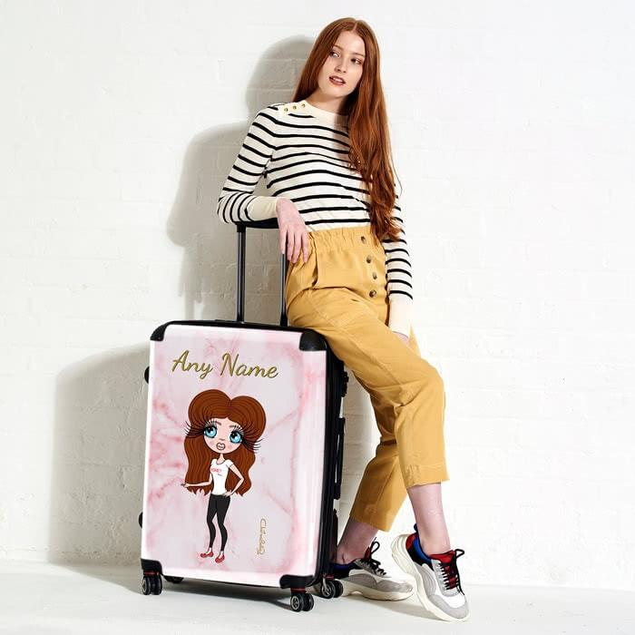 ClaireaBella Marble Effect Suitcase - Image 5