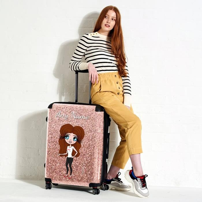 ClaireaBella Glitter Effect Suitcase - Image 0