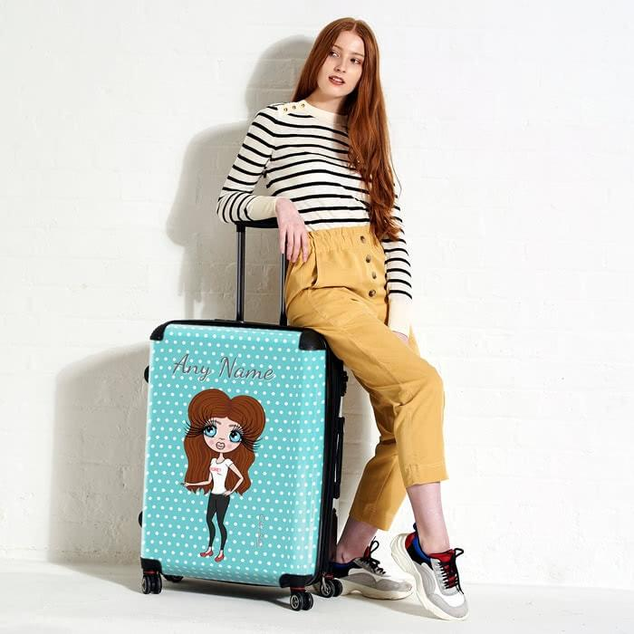 ClaireaBella Polka Dot Suitcase - Image 4