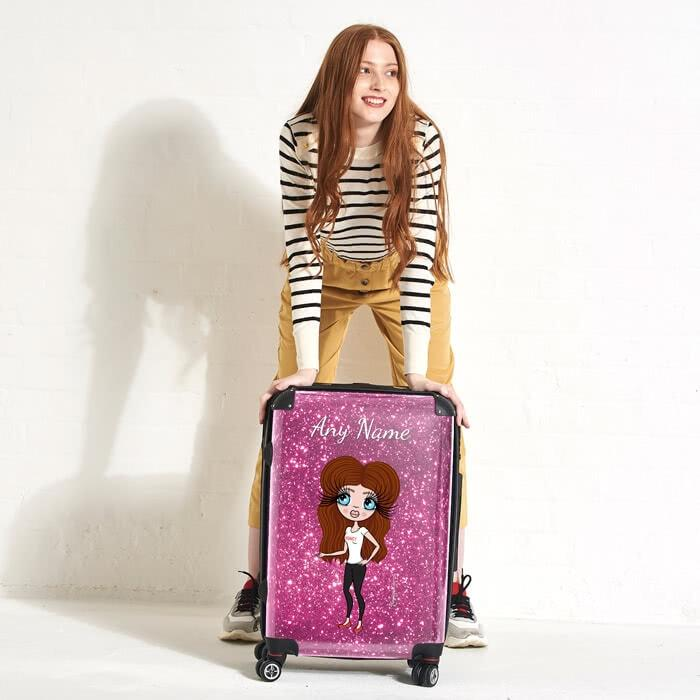 ClaireaBella Glitter Effect Suitcase - Image 1