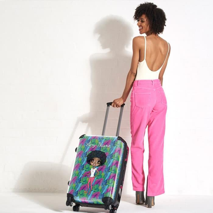 ClaireaBella Neon Leaf Suitcase - Image 0
