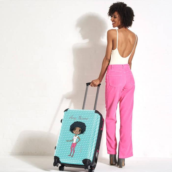 ClaireaBella Polka Dot Suitcase - Image 3