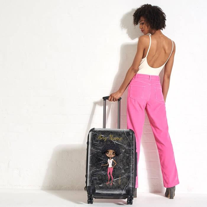 ClaireaBella Marble Effect Suitcase - Image 4