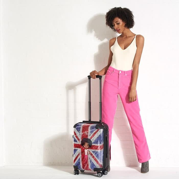 ClaireaBella Glitter Effect Union Jack Suitcase - Image 0