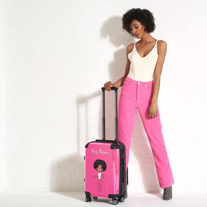 ClaireaBella Hot Pink Suitcase - Image 1