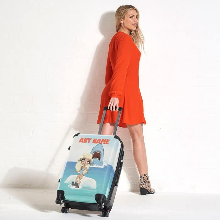 ClaireaBella Retro Shark Attack Suitcase - Image 4