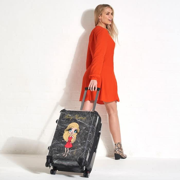 ClaireaBella Marble Effect Suitcase - Image 0